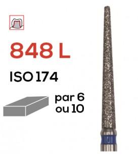 Fraise diamantée pour congés 848 L