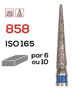 Fraise diamantée flamme 858