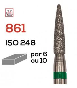 Fraise diamantée flamme 861