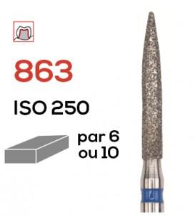 Fraise diamantée flamme 863