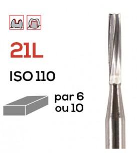 Fraise de préparation en carbure de tungstène 21L