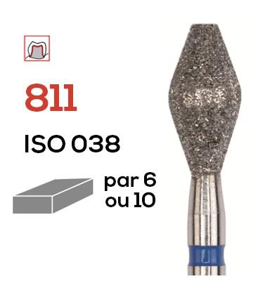 Fraise diamantée tonneau 811